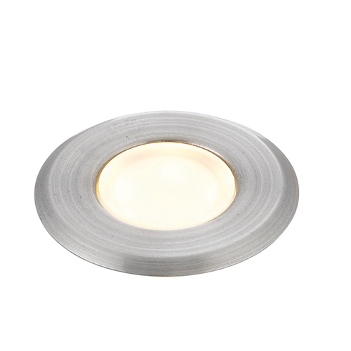 Cove Round Ip67 Warm White Recessed Light Brushed Stainless Steel 73463