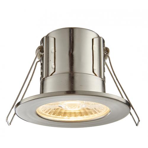 Saxby Lighting ShieldECO 800 IP65 8.5W warm white (Satin Nickel)