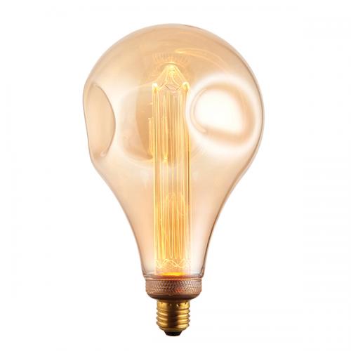 Endon Lighting XL E27 LED Dimple Globe 148mm Dia 2.5W Warm White