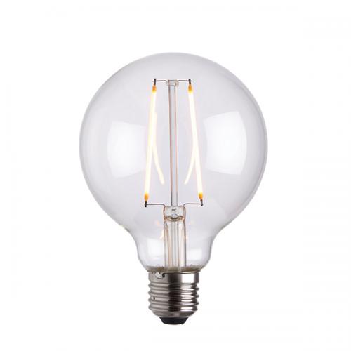 Endon Lighting E27 LED Filament Globe 95mm Dia 2W Warm White