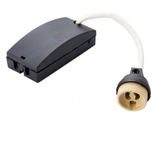 Saxby Lighting GU10 lampholder & fast fix box (Black)
