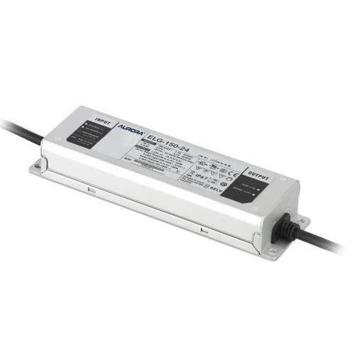 Aurora Lighting 200-305V 150W 24V IP67 Constant Voltage Led Driver (Grey)