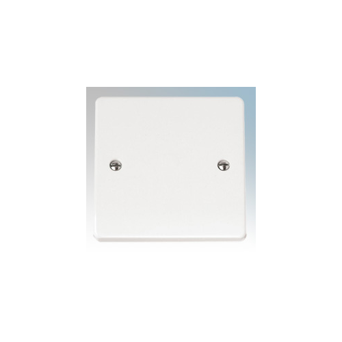 Click Scolmore 20A Flex Outlet Plate With Bottom Cable Entry (White)