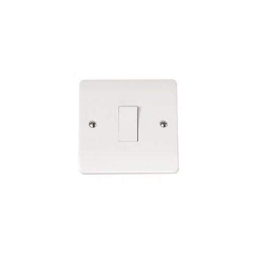 Click Scolmore 10AX 1 Gang Intermediate Plate Switch (White)