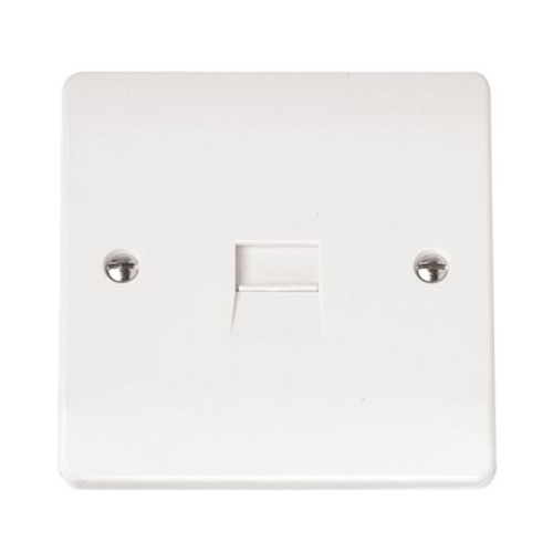 Click Scolmore Single Telephone Outlet - Master (White)