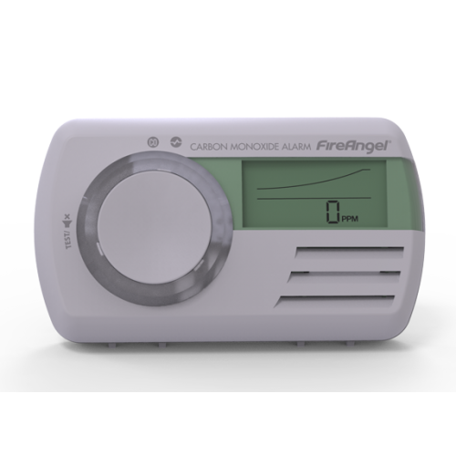 Carbon Monoxide Co2 Alarm Sensor Detector Led Light 7 Year Life White Portable