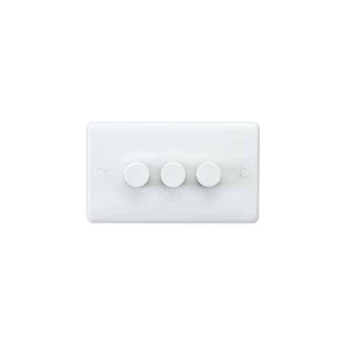 Knightsbridge Curved Edge 3G 40-400W Dimmer (White)
