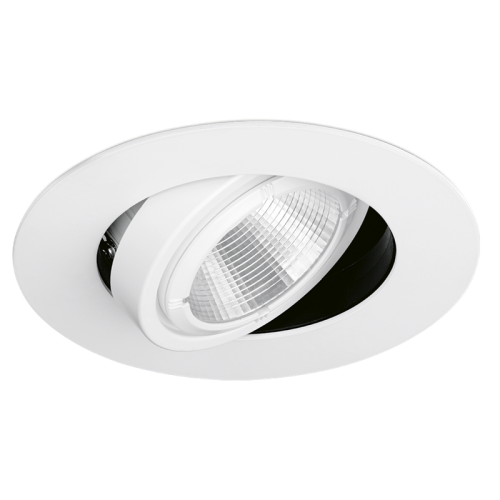 Aurora 240V 31W 83mm 3000lm 34? Adjustable Non Dimmable Led Recessed Wallwasher 3000K