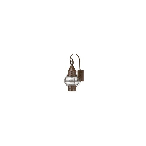 Elstead Capecod 1 Light Medium Wall Lantern (Burnished Brass)