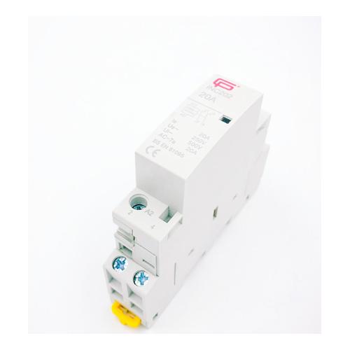 Fusebox 20A 2P Installation Contactor 230V (White)
