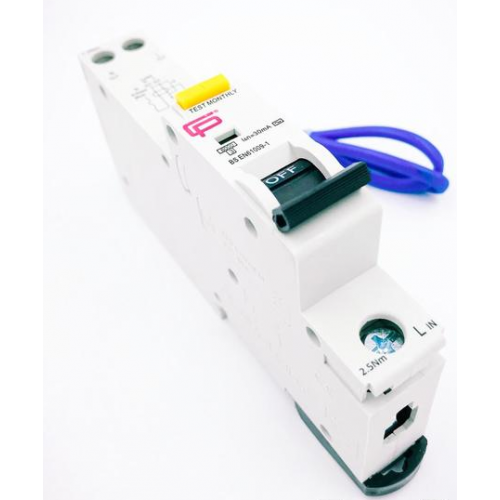 Fusebox 16A 30mA *c Type 6kA Rcbo (White)