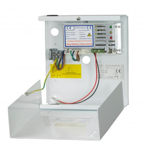 RGL 12V 2 Amp Metal Boxed Power Supply (White)