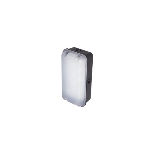 Ansell Sleek Polycarbonate 4000K Led Bulkhead C/w Mw Sensor (Black)