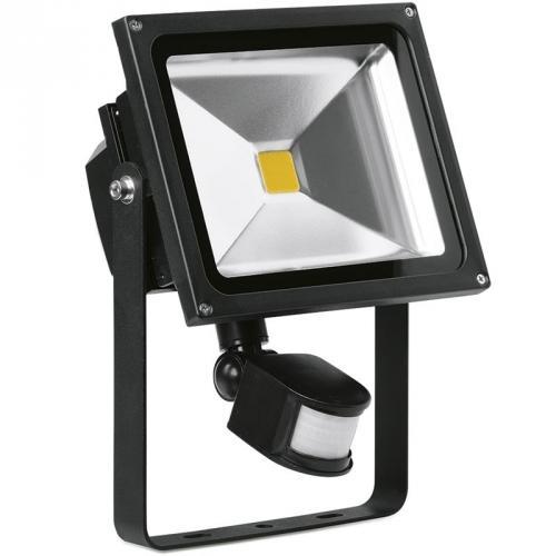 Enlite 30w pir led floodlight outdoor led lighting en fl30pira40 uk enlite 30w adjustable led floodlight with pir sensor black aloadofball Choice Image