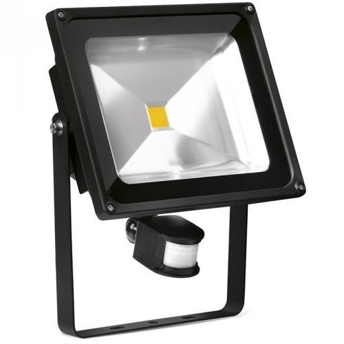 Enlite 50w pir led floodlight outdoor led lighting en fl50pira40 uk enlite 50w adjustable led floodlight with pir sensor black aloadofball Choice Image