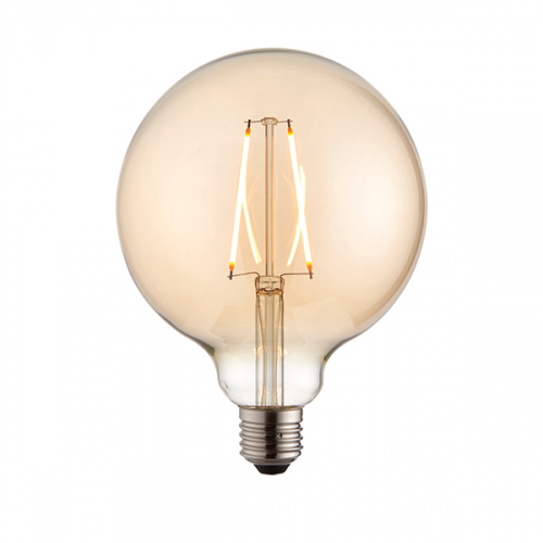 Endon Lighting E27 LED filament globe 1lt Accessory Amber glass Non-dimmable