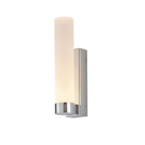 Endon Lighting Salano 1lt Wall Chrome plate & frosted acrylic Non-dimmable