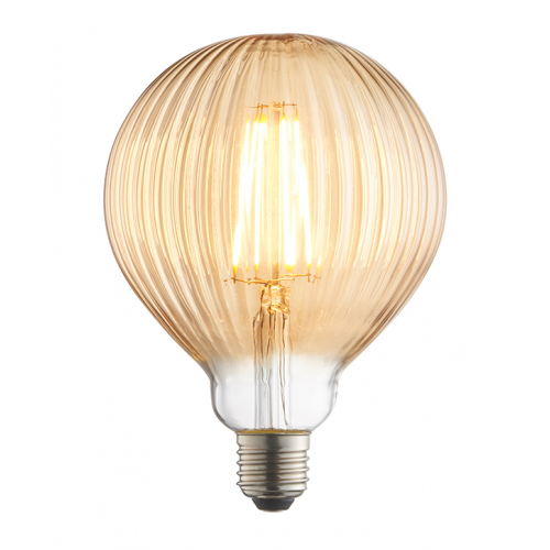 Endon Lighting Ribb 1lt Accessory Amber glass Non-dimmable