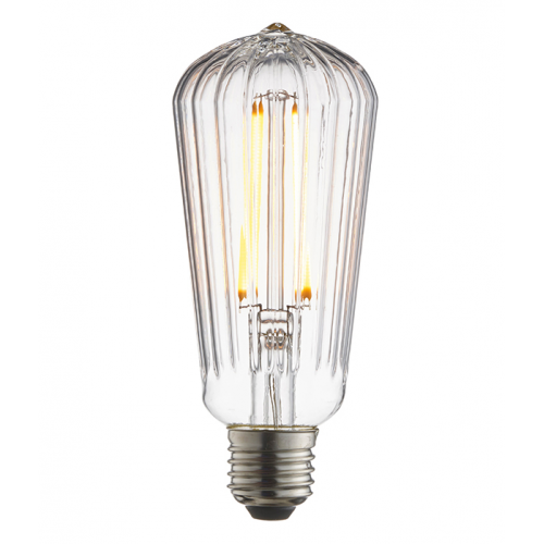Endon Lighting Ribb Pear 1lt Accessory Clear glass Non-dimmable