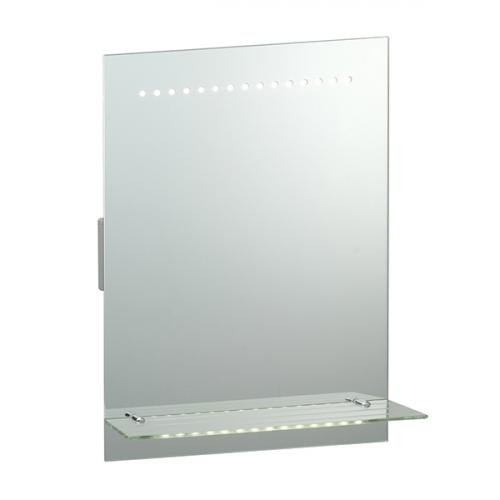 Endon Lighting Delta 30lt Wall Mirrored glass & matt silver paint Non-dimmable
