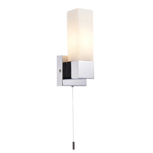 Endon Lighting Stroud 1lt Wall Chrome plate & opal glass Non-dimmable