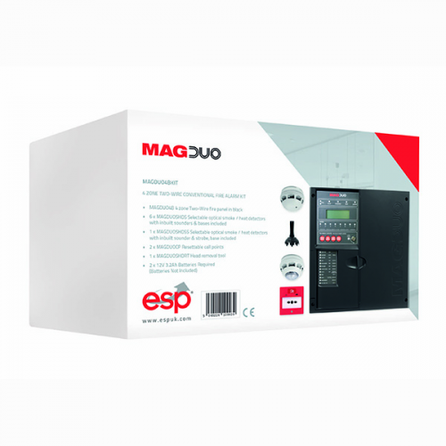 ESP MAGDUO 2 Wire Control Panel 4 Zone Kit (Black)