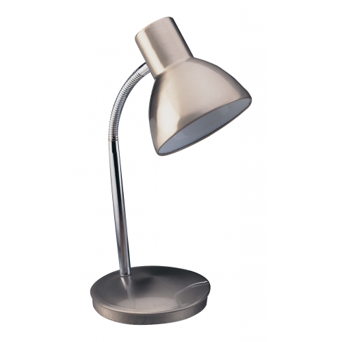 Firstlight Harvard 1 Light Table Lamp (Brushed Steel)