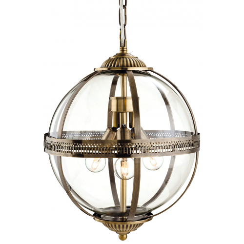 the latest bc28a 8c37a Firstlight Mayfair Ceiling Pendant (Antique Brass)