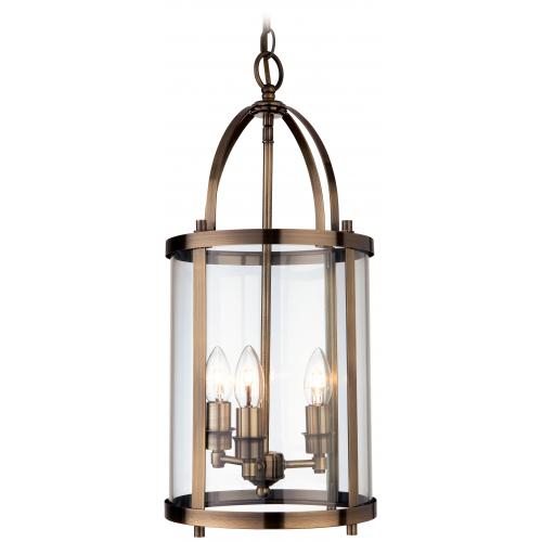Firstlight Imperial 3 Light Round Lantern (Antique Brass)
