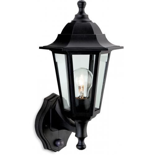 Firstlight Malmo Lantern with PIR (Black Resin)