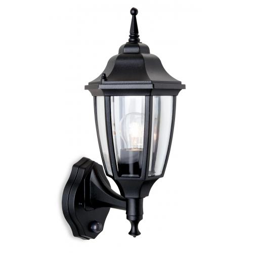 Firstlight Faro Wall Lantern with PIR (Black)
