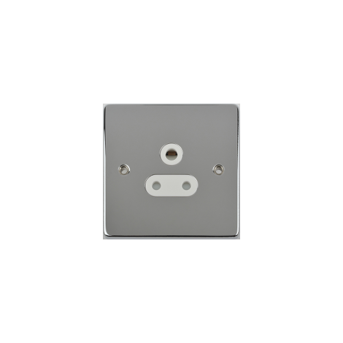Scheider Electric Ulp Polished Chrome White Insert 1 Gang 5A Round Pin Unswitched Socket