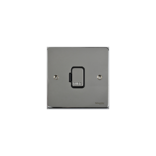 Scheider Electric Ulp Polished Chrome Black Insert 13A Unswitched Fused Connection Unit