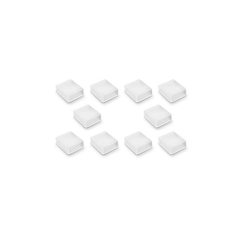 Integral 10 Pack IP67 Sealed End Caps for RGB Strip (Clear)