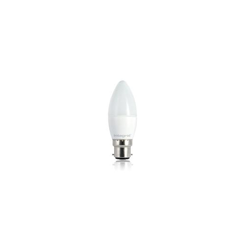 Integral 5.9W B22 Frosted LED Candle Lamp (Warm White)