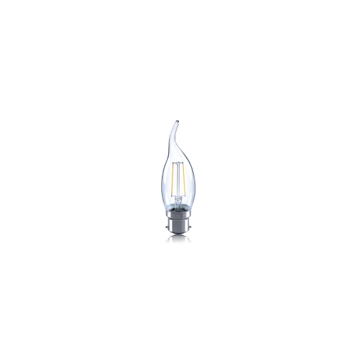 Integral Flame Tip 2W B22 LED Candle Lamp (Warm White)