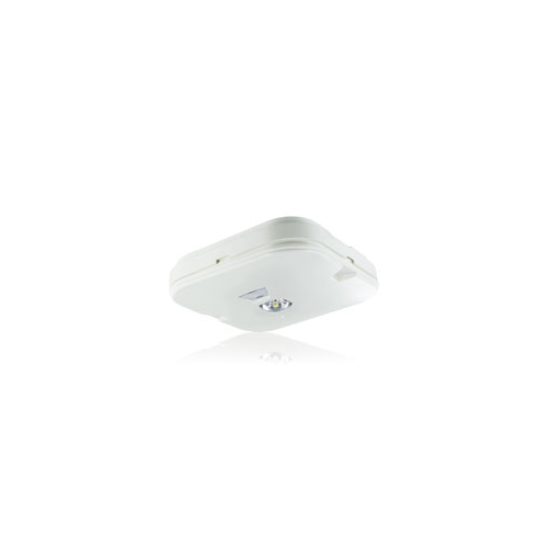 Integral Surface Emergency Downlight IP44 135LM 1W 6000K 3HR Non-maintained Open Area Test Button