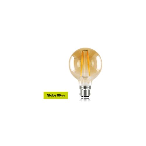 Integral Sunset Vintage Globe 80mm 2.5W B22 LED Lamp (Warm White)