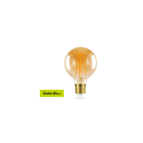 Integral Sunset Vintage Globe 80mm 5W E27 Dimmable LED Lamp (Warm White)