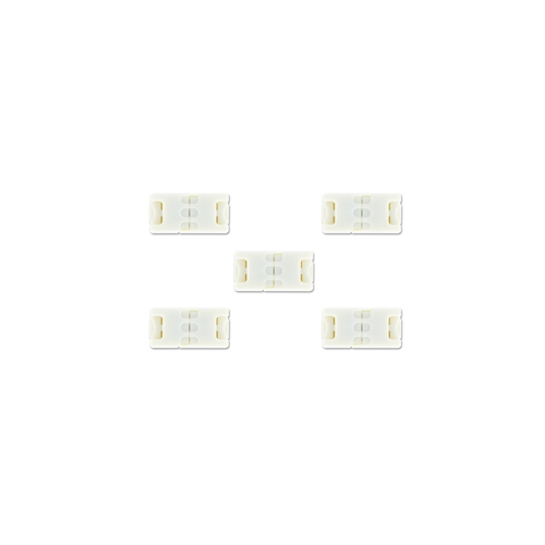 Integral Block Connector for 8mm LED Strip x 5 Pack (White)