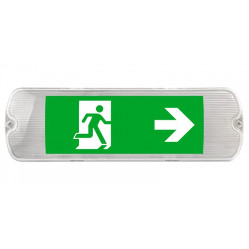 Kosnic IP65 LED Emergency Exit Sign (White)
