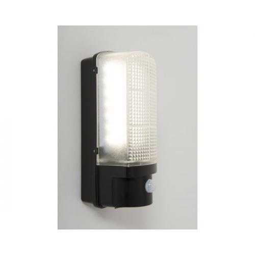KSR Lighting Vigo 7w 4000K LED PIR Bulkhead Black
