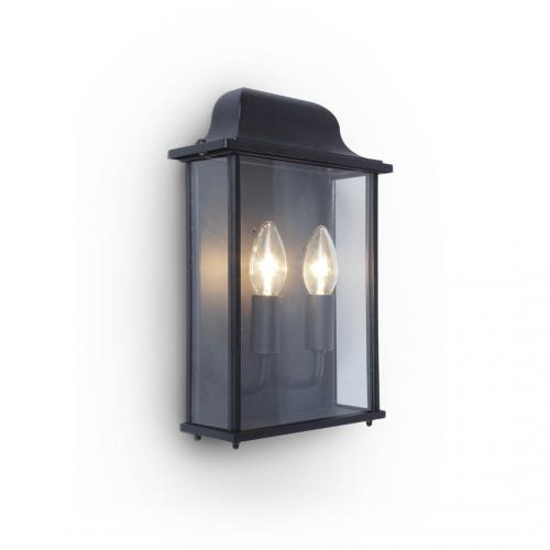 Lutec Holly Wall Light E14 IP44 (Black)