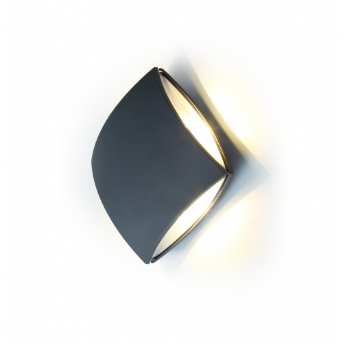 Lutec Pilo Wall Light 4000K IP54 (Grey)