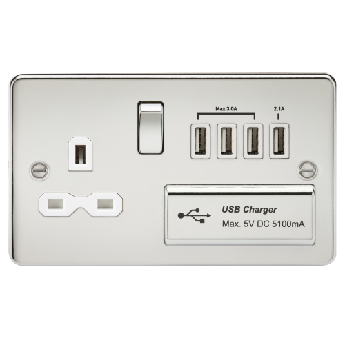 Image of usb plug wall socket