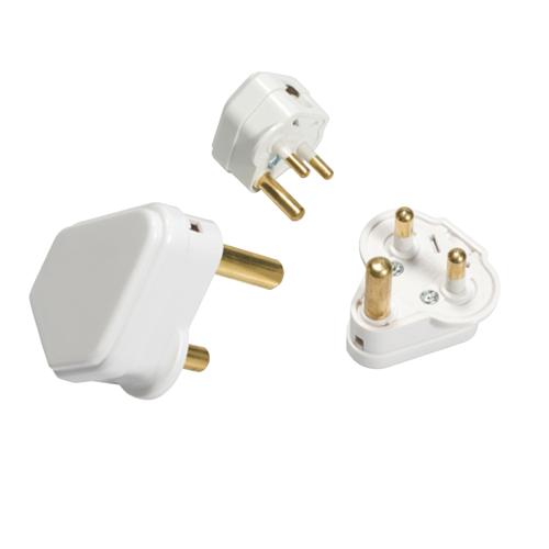 Knightsbridge 2A Round Pin Plug Top (White)