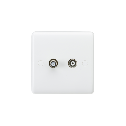 ML ACCESSORIES Curved Edge Coax Tv And Sat Tv Outlet