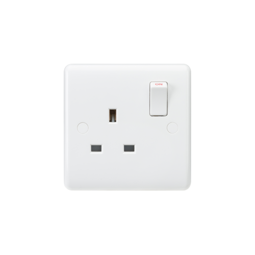 ML ACCESSORIES Curved Edge 13A 1G Sp Switched Socket