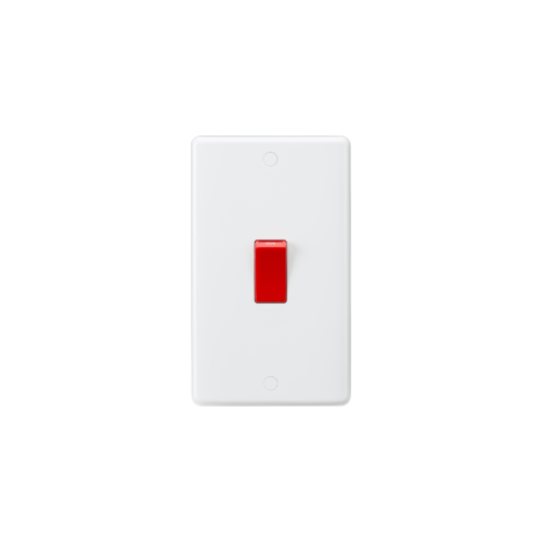 Knightsbridge Curved Edge 45A DP Switch  (large) (White)