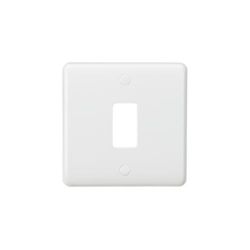 Knightsbridge Curved edge 1G grid faceplate (White)